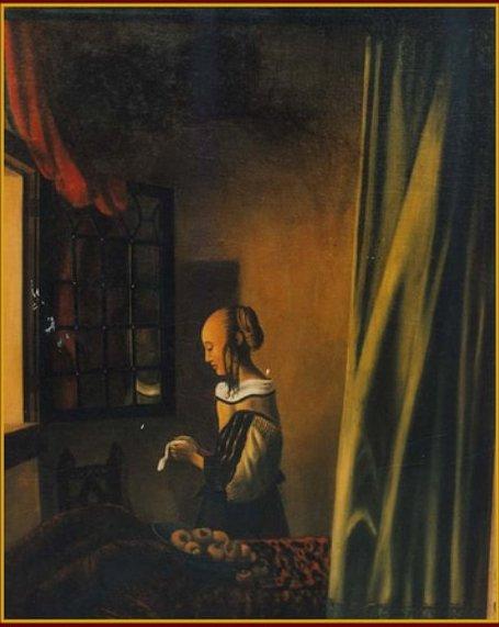 Girl reading a letter (1990)